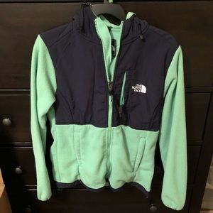 The North Face Jacket (Mint & Navy Blue)